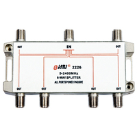 Eurppean type Indoor 6 way satellite splitter(5-2400MHz)