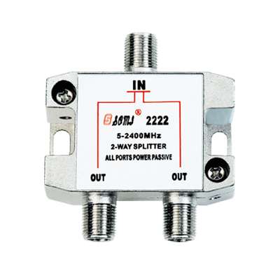 Eurppean type Indoor 2 way satellite splitter(5-2400MHz)